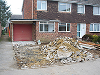 example of building a driveway