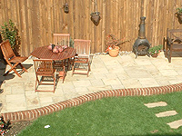 example of building a patio